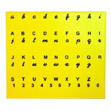 English Alphabet Plate